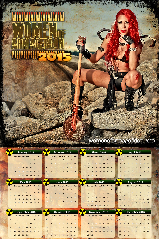 Nude girls with guns calendars