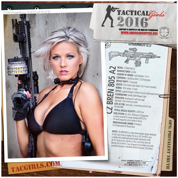tactical girls with guns calendar