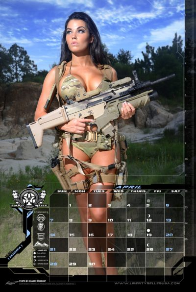 feature girls  guns calendars  girls  guns